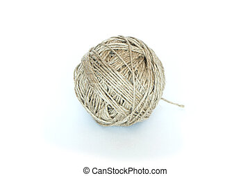 Clew Of Twine - Rustic looking clew of twine isolated on...