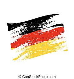 color germany national flag grunge style eps10