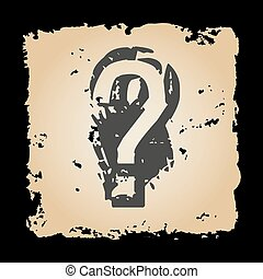 old retro tattered paper with question mark eps10