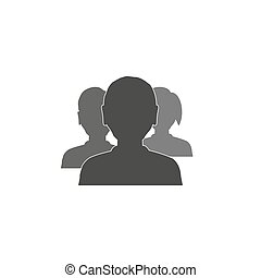 trio man and woman heads simple avatar business icons eps10