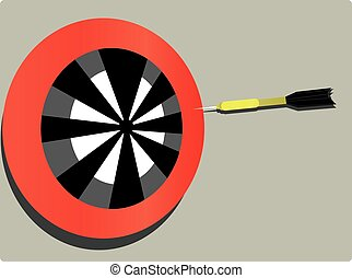 target and dart - throwing darts game and target very...