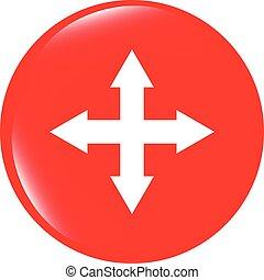 vector arrow set on web icon (button)