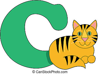 Letter C with a Cat