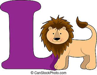 Letter L with a Lion