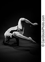 Classic Dancer in Black And White