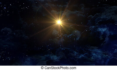 starry night star center - the beauty night sky with star...