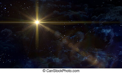 starry night star cross planet - A Bethlehem illuminated by...
