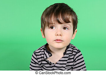 little boy portrait - little boy close up portrait over...