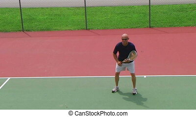 Tennis Player Volleys 02