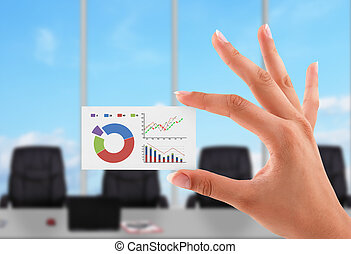 business card with stock chart