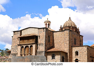 Qorikancha ruins and convent Santo Domingo in Cuzco, Peru.