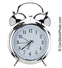 Alarm clock - Colorful spices in clear glass sealed jars.