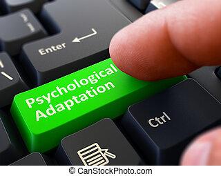 Finger Presses Green Keyboard Button Psychological...
