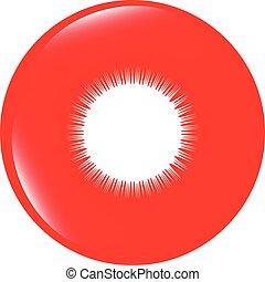 vector Sun on web icon button