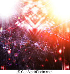 Abstract light background with a color smoke