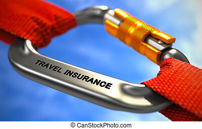 Travel Insurance on Chrome Carabine with Red Ropes - Chrome...
