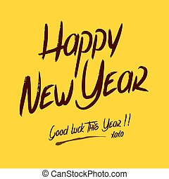 Happy Good Luck New Year Greetings