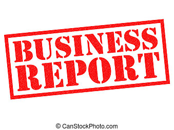 BUSINESS REPORT red Rubber Stamp over a white background