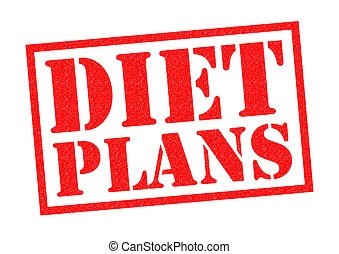 DIET PLANS red Rubber Stamp over a white background.