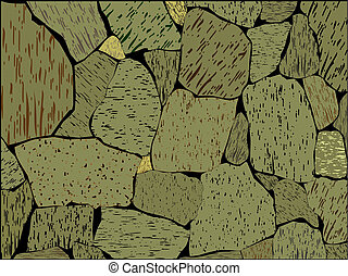 Stone wall - The image of a stone wall