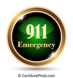 911 Emergency icon. Internet button on white background.
