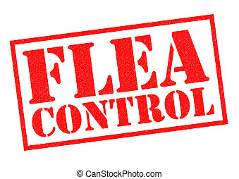 FLEA CONTROL red Rubber Stamp over a white background.