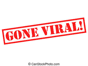 GONE VIRAL red Rubber Stamp over a white background