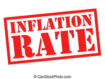INFLATION RATE red Rubber Stamp over a white background