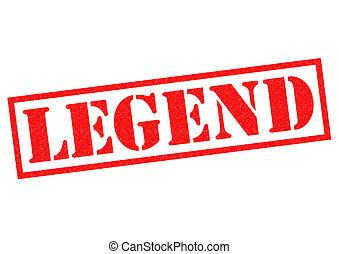 LEGEND red Rubber Stamp over a white background.