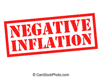 NEGATIVE INFLATION red Rubber Stamp over a white background