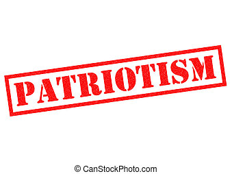 PATRIOTISM red Rubber Stamp over a white background