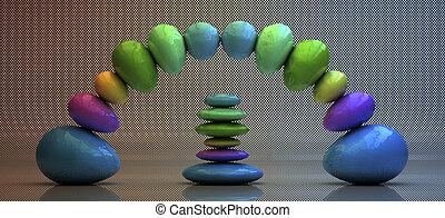Zen stones - zen stones concept in 3d