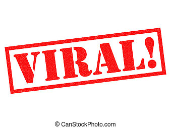 VIRAL red Rubber Stamp over a white background