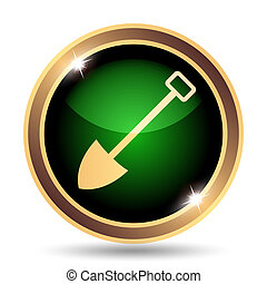 Shovel icon. Internet button on white background.