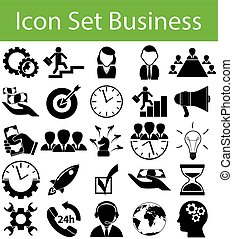 Icon Set Business with 25 icons for the creative use in...