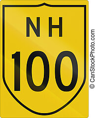 Indian National Highway number 100 route shield.