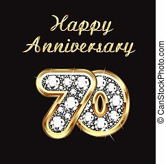 70 years anniversary birthday