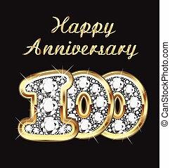 10 years anniversary birthday in go - 100 years anniversary...