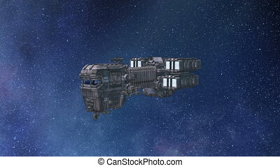 Space ship - 3D illustration of a space ship