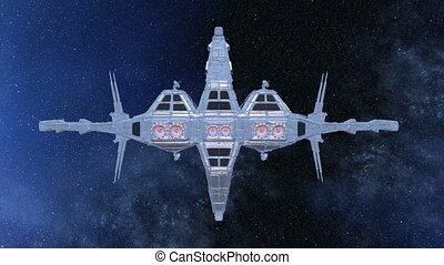 Space ship - 3D illustration of a space ship.