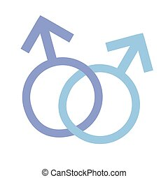Symbol - Male and Male - Vector Symbol - Male and Male