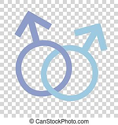 Sign LGBT - Illustration for Homosexual and transgender