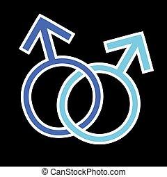 Sign LGBT - Illustration for Homosexual and transgender