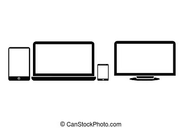 Tablet, Notebook, Smartphone and LCD Screen