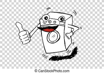 Washing Machine - Vector doodle Washing Machine