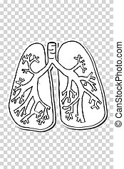 Anatomic Lung - Vector Anatomic Lung