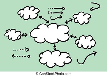 Blank Info Graphic Cloud - Vector Blank Info Graphic Cloud...
