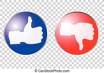 Icon Winner and Looser - icon thumb Up and thumb down...