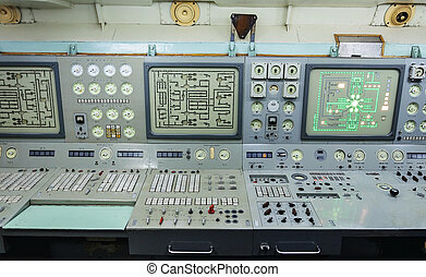 "Fragment of Control panel nuclear-powered icebreaker ""Lenin""..."