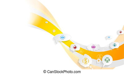 Abstract bright social communication video animation -...